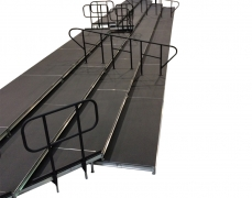 4 Tiered Riser System with Hand Rail