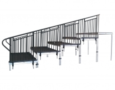 5 Tiered Riser with Handrails