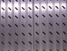 "Diagonal Punch Aluminum Planks: 6"" Planks are welded to aluminum deck frames providing an impervious, weather-proof surface for permanent outdoor installations."