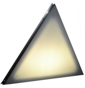 Natural Polyethylene Milk Plexi Triangle Stage Deck - Back Lit