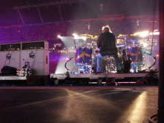 Orange Bowl HalftimeShow with ZZ Top-Custom rolling stagedesigned and built byStaging Dimensions,for Coper Productions