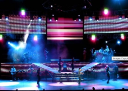 Chayanne 2007 Tour-Custom staging and Pixel Panel ramps by Staging DimensionsPhoto by Livid Instruments