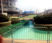 Red Bull Golf Course Pool Cover By Light Action
