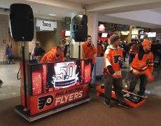 DJ cart for the Philadelphia Flyers, 2017