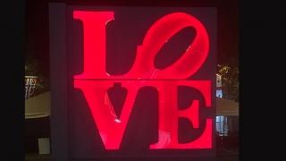 LOVE Sign for the Budweiser Made in America Festival in Philadelphia, PA, 2017